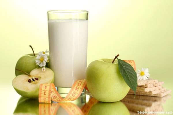 особенности кефирно-яблочной диеты