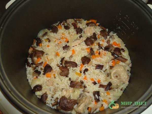 курица с рисом и грибами фото